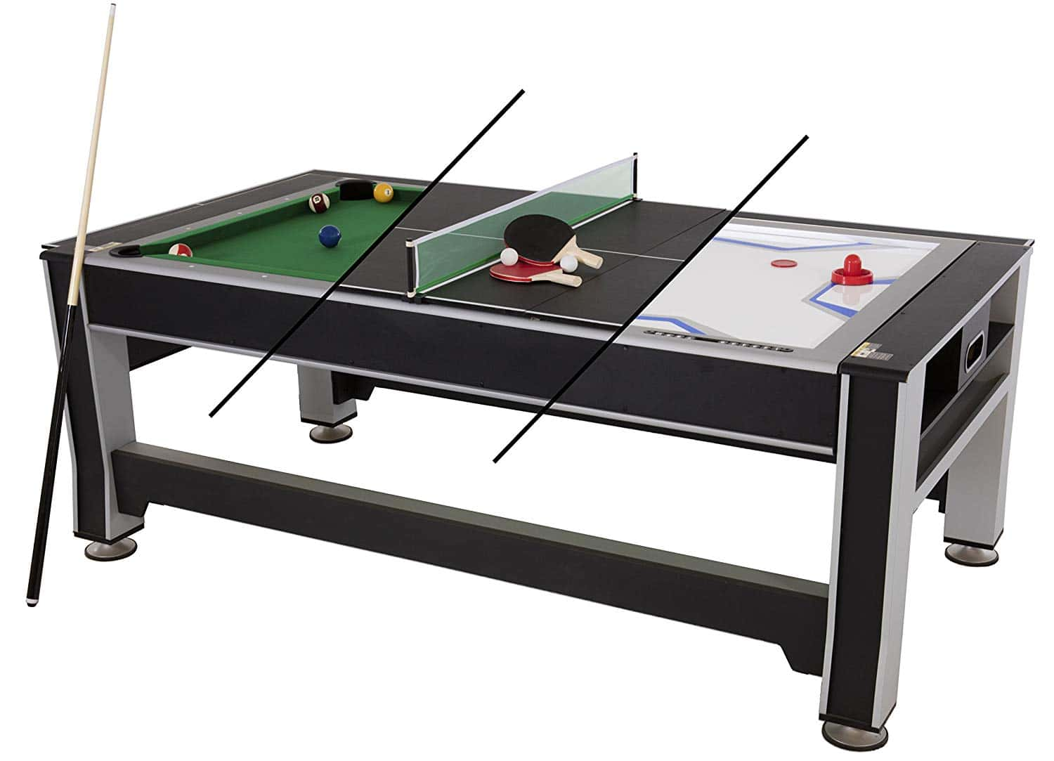 Air Hockey Pool Ping Pong Combo Table