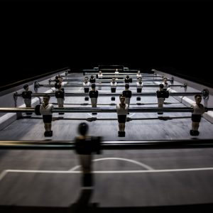 foosball playing surface